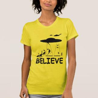 I believe in aliens t shirt