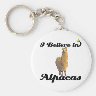 i believe in alpacas key ring