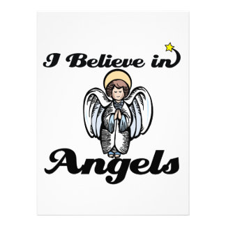 i believe in angels personalized announcements