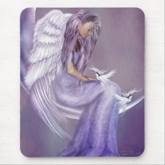 I Believe In Angels Mouse Mat