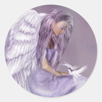 I Believe In Angels Round Sticker