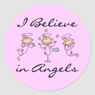I Believe in  Angels Stickers