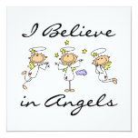 I Believe in Angels T-shirts and Gifts Invitations
