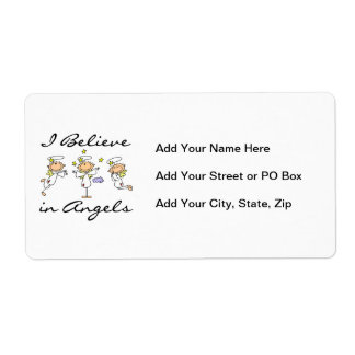 I Believe in Angels T-shirts and Gifts Shipping Label