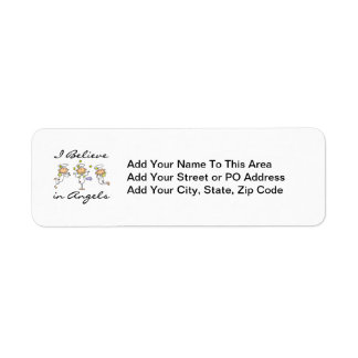I Believe in Angels T-shirts and Gifts Return Address Label