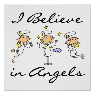 I Believe in Angels T-shirts and Gifts Poster