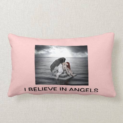 """"""" I Believe in Angels """" Throw Pillow"""