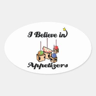 i believe in appetizers sticker