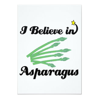 i believe in asparagus card