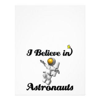 i believe in astronauts 21.5 cm x 28 cm flyer