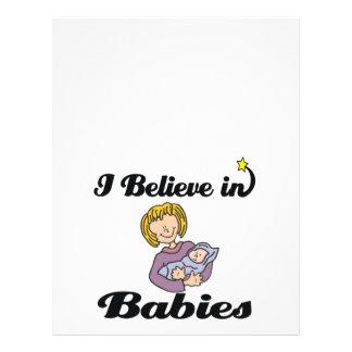 i believe in babies 21.5 cm x 28 cm flyer