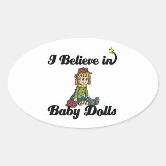 i believe in baby dolls sticker