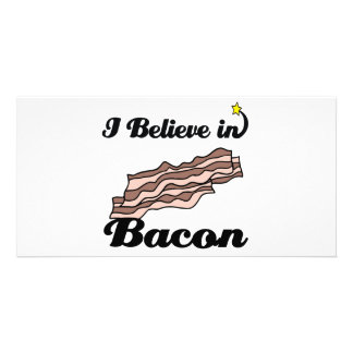 i believe in bacon picture card