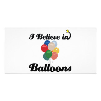 i believe in balloons personalised photo card