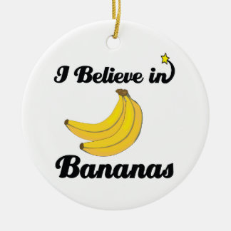 i believe in bananas christmas ornament