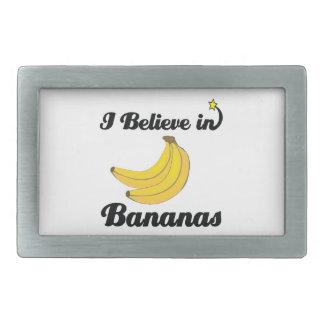 i believe in bananas rectangular belt buckle