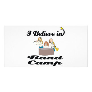 i believe in band camp photo greeting card