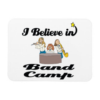 i believe in band camp rectangle magnets