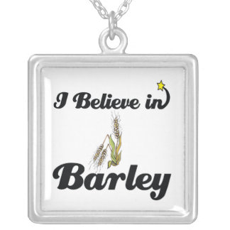 i believe in barley necklace
