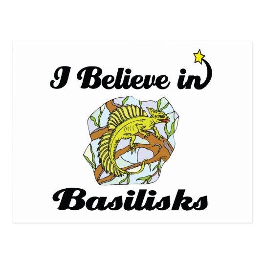 i believe in basilisks postcard