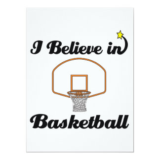 i believe in basketball 17 cm x 22 cm invitation card