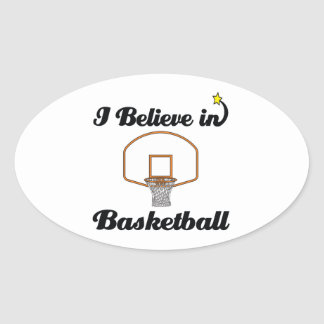 i believe in basketball oval stickers
