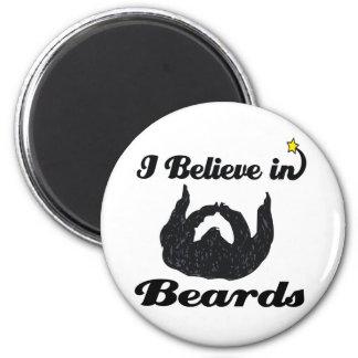 i believe in beards 6 cm round magnet
