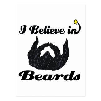 i believe in beards postcard