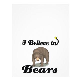 i believe in bears 21.5 cm x 28 cm flyer