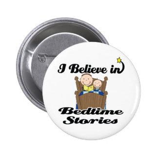 i believe in bedtime stories boys 6 cm round badge