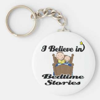 i believe in bedtime stories boys basic round button key ring