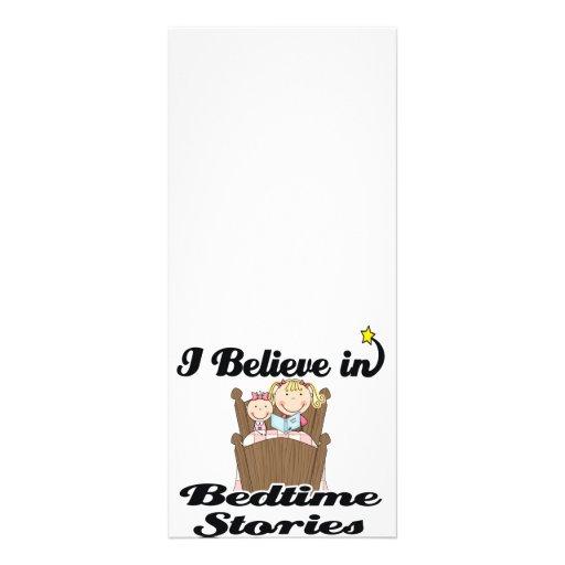 i believe in bedtime stories girl rack card design