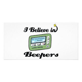 i believe in beepers custom photo card