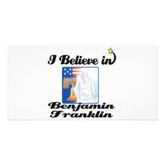 i believe in benjamin franklin photo card template