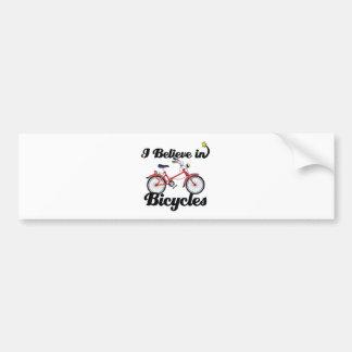 i believe in bicycles bumper sticker