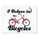i believe in bicycles custom invitation