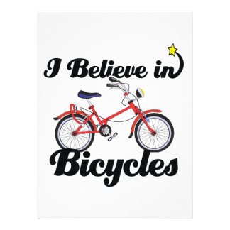 i believe in bicycles personalized announcement