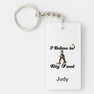 i believe in big foot Double-Sided rectangular acrylic key ring