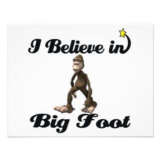 i believe in big foot custom invite