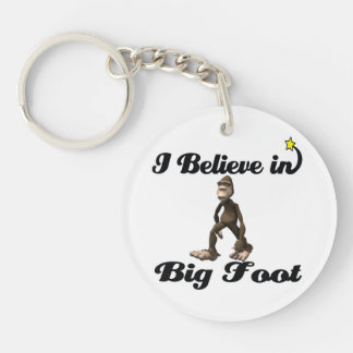 i believe in big foot round acrylic keychains