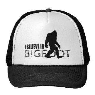 I Believe in Bigfoot  Funny Sasquatch Mesh Hats