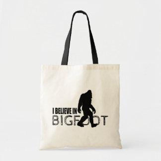 I Believe in Bigfoot  Funny Sasquatch Bags