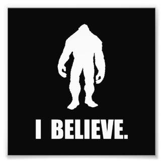 I Believe In Bigfoot Photo Print