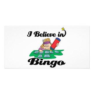 i believe in bingo photo card