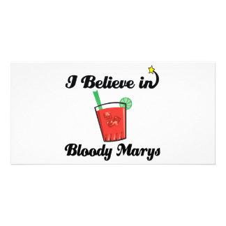 i believe in bloody marys photo card