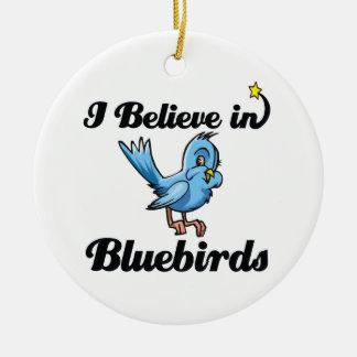 i believe in bluebirds christmas tree ornaments