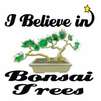 i believe in bonsai trees standing photo sculpture