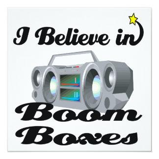 i believe in boom boxes 13 cm x 13 cm square invitation card