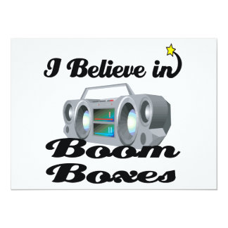 i believe in boom boxes 5.5x7.5 paper invitation card