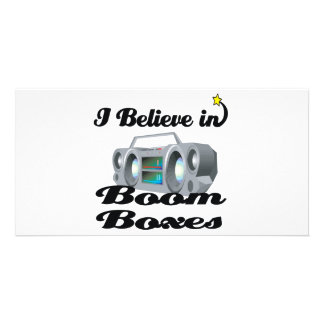 i believe in boom boxes photo greeting card